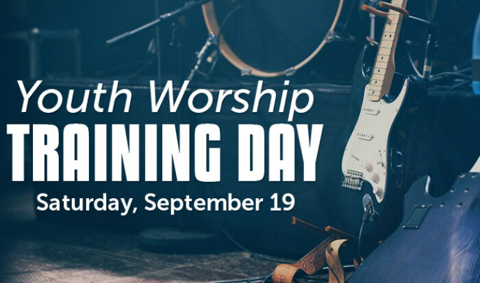 Youth Worship Training Day - Sep 19 2015 9:00 AM