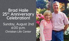 Brad Haile's 25th Anniversary Reception - Aug 2 2015 6:00 PM