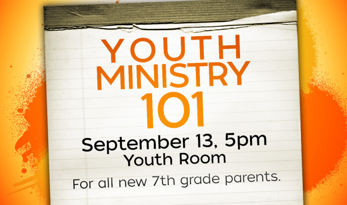 Youth Ministry 101 - Sep 13 2015 5:00 PM