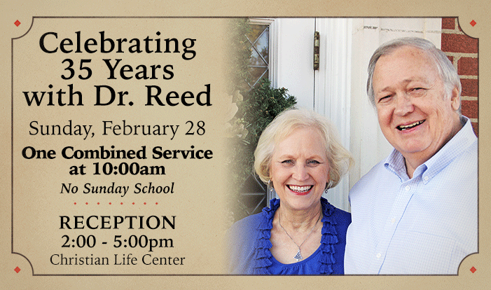 Celebrating 35 Years with Dr. Reed - Feb 28 2016 10:00 AM