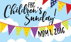 Children's Sunday - May 1 2016