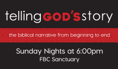 Telling God's Story - Sundays 6:00 PM