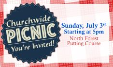 Churchwide Picnic - Jul 3 2016 5:00 PM