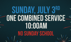 10am Combined Worship Service - Jul 3 2016 10:00 AM
