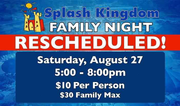 Splash Kingdom Family Night - Aug 27 2016 5:00 PM