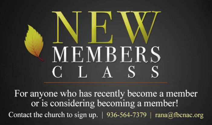 New Members Class - May 1 2019 6:30 PM