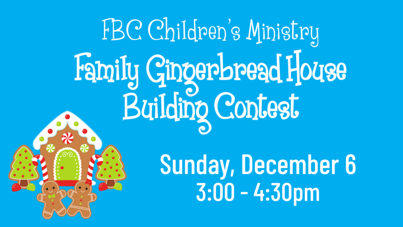 Family Gingerbread House Contest
